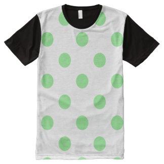 Lunares enormes - verde claro en blanco
