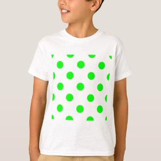 Lunares enormes - verde eléctrico en blanco playera
