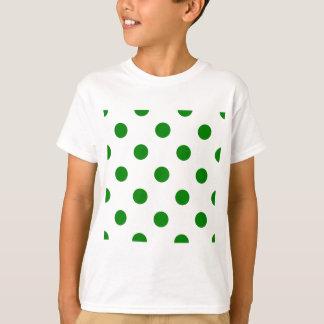 Lunares enormes - verde en blanco playera
