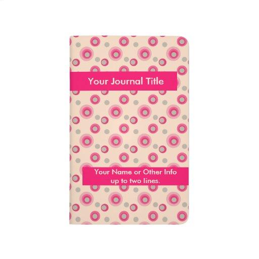 Lunares escarchados - personalizados - rosa cuaderno