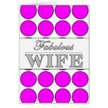Lunares fabulosos del rosa de la esposa en blanco tarjetas