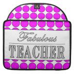 Lunares fabulosos del rosa del profesor en blanco