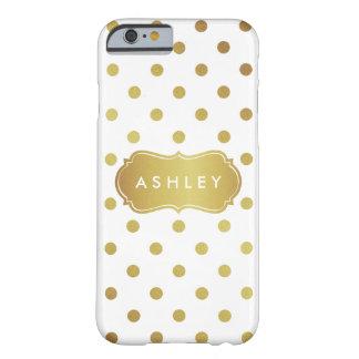 Lunares femeninos del brillo del oro - moda funda de iPhone 6 barely there