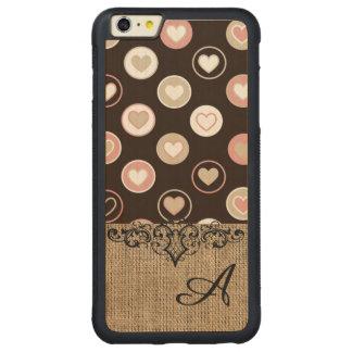 Lunares femeninos y modelo de la arpillera con el funda de arce bumper carved® para iPhone 6 plus