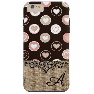 Lunares femeninos y modelo de la arpillera con el funda para iPhone 6 plus tough