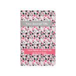 Lunares frenéticos - personalizados - rosa+Gris Cuaderno Grapado