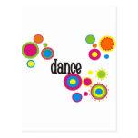 Lunares frescos de la danza postal