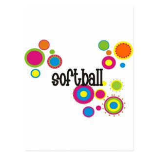 Lunares frescos del softball tarjetas postales