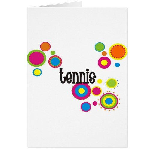 Lunares frescos del tenis tarjeta de felicitación