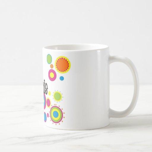 Lunares frescos del tenis taza de café
