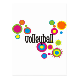 Lunares frescos del voleibol postal