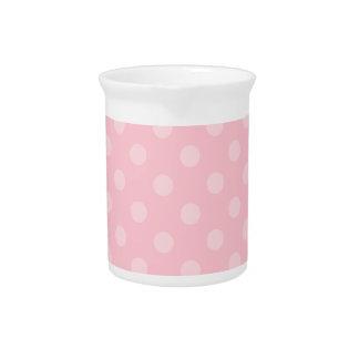Lunares grandes - 4a rosado jarras para bebida