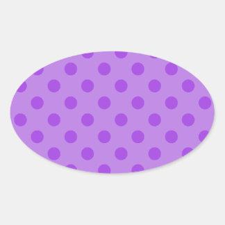 Lunares grandes - 4b violeta pegatina ovalada