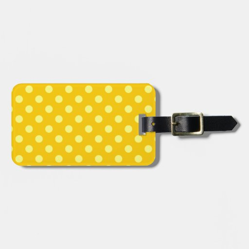 Lunares grandes - amarillo en amarillo de la manda etiquetas maletas