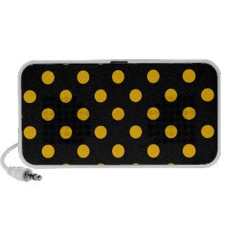 Lunares grandes - ámbar en negro iPod altavoz