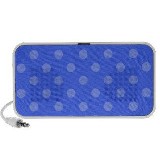 Lunares grandes - azul claro en azul laptop altavoces