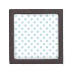 Lunares grandes - azul claro en blanco caja de regalo de calidad