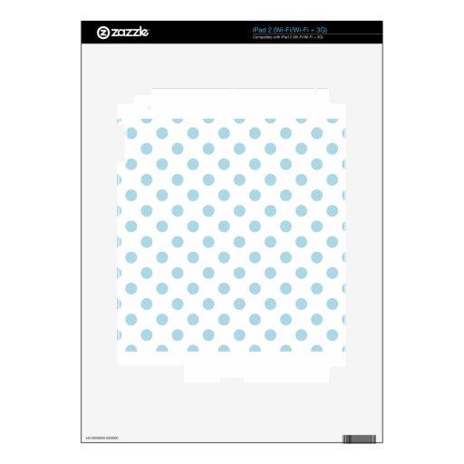 Lunares grandes - azul claro en blanco calcomanía para iPad 2