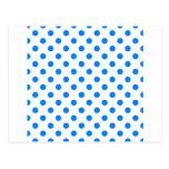 Lunares grandes - azul en blanco postal