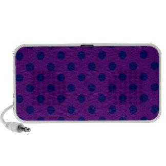 Lunares grandes - azul marino en violeta oscura altavoz de viaje