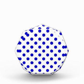 Lunares grandes - azul medio en blanco
