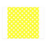 Lunares grandes - blanco en amarillo eléctrico postal