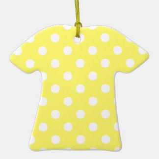 Lunares grandes - blanco en amarillo limón adorno