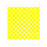Lunares grandes - blanco en amarillo postal