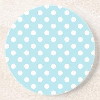 Lunares grandes - blanco en azul de la ventisca posavasos manualidades