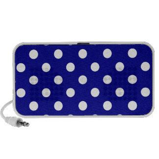 Lunares grandes - blanco en azul marino iPhone altavoz