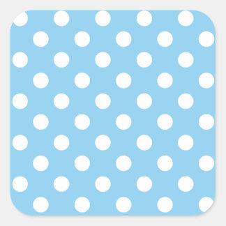 Lunares grandes - blanco en azules cielos