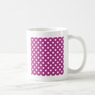 Lunares grandes - blanco en fandango tazas de café