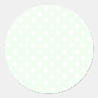 Lunares grandes - blanco en la ligamaza etiquetas