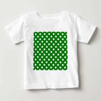 Lunares grandes - blanco en verde playera de bebé