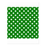 Lunares grandes - blanco en verde postal