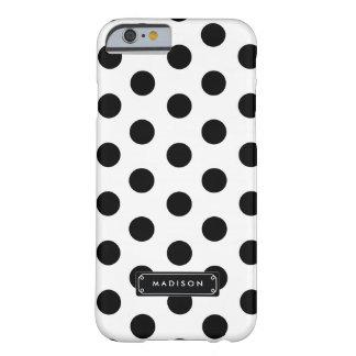 Lunares grandes blancos negros con clase funda de iPhone 6 barely there