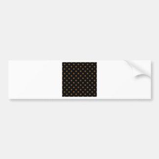 Lunares grandes - Brown oscuro en negro Pegatina Para Auto