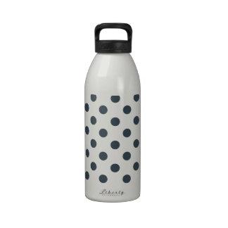 Lunares grandes - carbón de leña en blanco botella de agua reutilizable