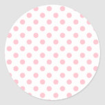 Lunares grandes - chicle en blanco etiquetas redondas