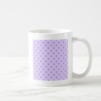 Lunares grandes - glicinias en la lavanda pálida taza de café
