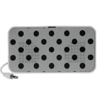 Lunares grandes - gris oscuro en gris iPhone altavoces