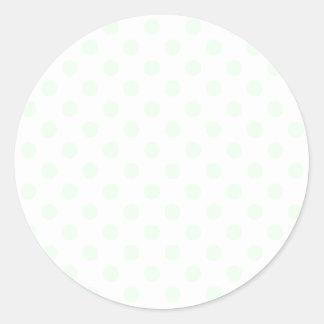 Lunares grandes - ligamaza en blanco etiqueta redonda