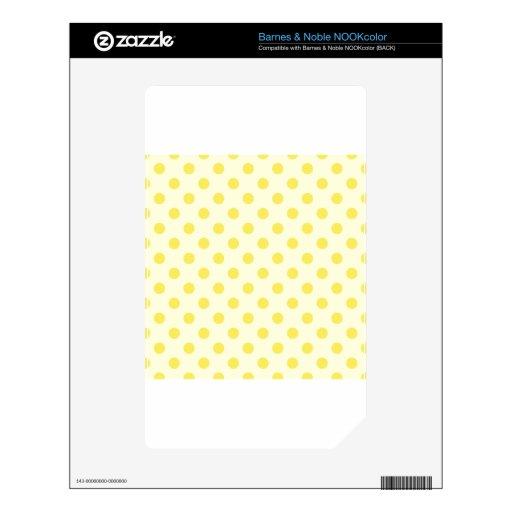Lunares grandes - maíz en amarillo claro skins para NOOK color