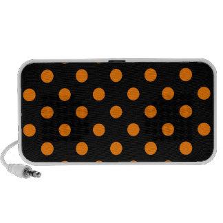 Lunares grandes - naranja en negro iPhone altavoz