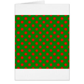 Lunares grandes - rojo en verde tarjeta de felicitación