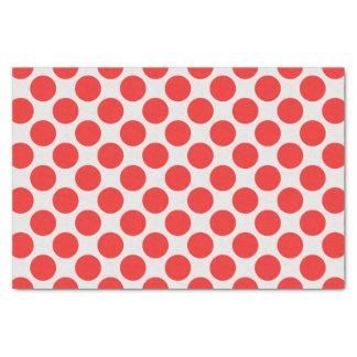 Lunares grandes rojos y blancos modernos papel de seda pequeño