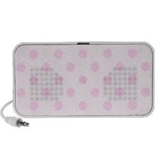 Lunares grandes - rosa en rosa claro portátil altavoz