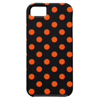 Lunares grandes - Tangelo en negro iPhone 5 Funda
