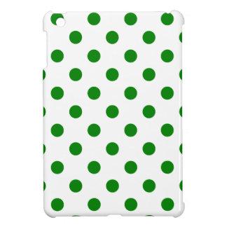 Lunares grandes - verde en blanco