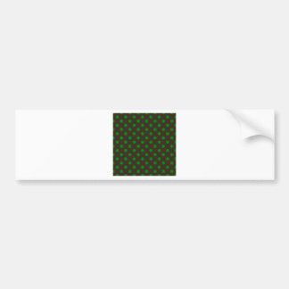 Lunares grandes - verde en Brown Pegatina Para Auto